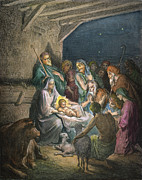 Adoration Photo Prints - DorÉ: The Nativity Print by Granger