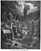 Prophet Metal Prints - DorÉ: Valley Of Dry Bones Metal Print by Granger
