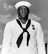 Navy Photo Framed Prints - Dorie Miller Framed Print by War Is Hell Store