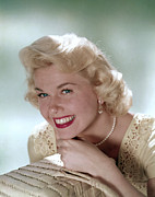 1950s Portraits Posters - Doris Day, 1950s Poster by Everett