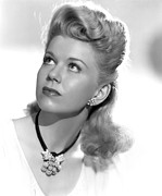 Doris Day Framed Prints - Doris Day, Ca. Mid-1940s Framed Print by Everett