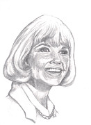 Performer Drawings Prints - Doris Day  Print by Carol Wisniewski