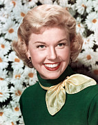 Gold Earrings Acrylic Prints - Doris Day, Circa 1950s Acrylic Print by Everett