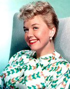 Pearl Earrings Posters - Doris Day, Warner Brothers, 1950s Poster by Everett