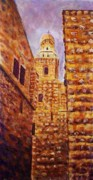 Jerusalem Painting Metal Prints - Dormition Abbey - Jerusalem Metal Print by Faye Dietrich