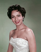 Pearl Earrings Posters - Dorothy Dandridge, 1954 Poster by Everett