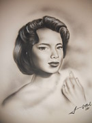 Dandridge Framed Prints - Dorothy Dandridge 2 Framed Print by Terrence ONeal