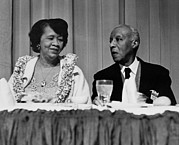 Integration Posters - Dorothy Height And A. Philip Randolph Poster by Everett