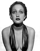 Plunging Neckline Prints - Dorothy Lamour As A C.b.s. Radio Print by Everett