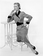1950s Fashion Photo Metal Prints - Dorothy Mcguire, 1950s Metal Print by Everett