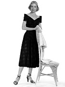 Wicker Chair Prints - Dorothy Mcguire, 1952 Print by Everett