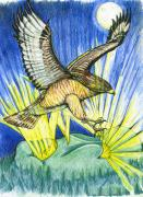 Red Tail Hawk Art - Dorothys Totem by Laura Brightwood