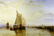 Delivering Paintings - Dort or Dordrecht - The Dort Packet-Boat from Rotterdam Becalmed by Joseph Mallord William Turner