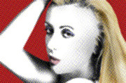 Blonde Framed Prints - Dot Blonde Framed Print by Dan Holm
