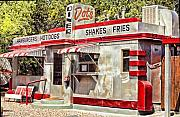 Bisbee Framed Prints - Dots Diner Bisbee AZ Framed Print by Lynn Andrews