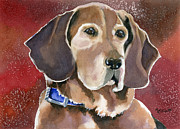 Paws Painting Originals - Dottie by Marsha Elliott