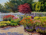 Knockout Paintings - Dottis Garden Summer by Keith Burgess