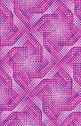 Optical Illusion Digital Art Prints - Dotty Print by Louisa Knight