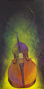 Canvas Wine Prints Posters - Double Bass Poster by Bill Werle
