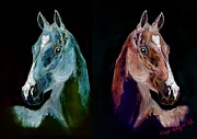 Horse Mixed Media - Double Beauty by Tarja Stegars