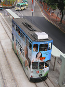 Electric Vehicle Posters - Double-decker Electric Tram, Hong Kong Poster by Ria Novosti
