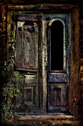 Rural Decay  Digital Art Framed Prints - Double Door Framed Print by Sari Sauls