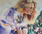 Double Image Paintings - Double Erin by Catherine Foster