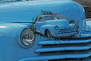 Computer Altered Prints - Double Exposure Chevy Print by Randy Harris