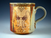 Florida Ceramics - Double Flamingo Mug by Kyle Houser