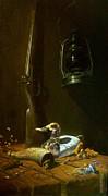 Double Hammer Duck Hunt Print by Tom Jennerwein