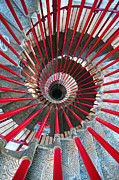 Spiral Staircase Photos - Double Helix Staircase In Ljubljana Castle by Sebastian Condrea