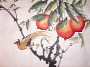 Pear Tree Mixed Media - Double longivity by Anita Lau