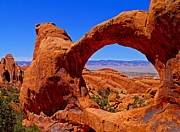 Utah National Parks Prints - Double O Arch Landscape Print by Scott McGuire
