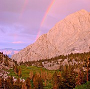 Mount Whitney Posters - Double Rainbow Poster by Scott McGuire