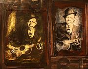 """delta Blues"" Framed Prints - Double Robert Johnson Framed Print by Doug Norton"