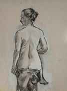 Pensive Drawings Originals - Double Take  by Julianna Ziegler