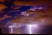 Striking Photography Prints - Double Trouble Lightning Strikes Print by James Bo Insogna