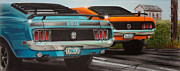 Ford Mustang Paintings - Double Trouble by Michael Dennis