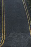 Double Yellow Lines Posters - Double Yellows Poster by Andy  Mercer