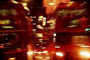 Bus Photo Originals - Doubledecker Bus Blur London by Brad Rickerby