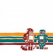 Bolts Drawings - Doubotganger Robots by Karl Addison