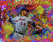 Baseball Originals - Doug Fister by Donald Pavlica