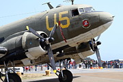 Dc-3 Prints - Douglas C47 Skytrain Military Aircraft 7d15774 Print by Wingsdomain Art and Photography