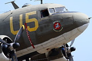 Douglas Dc-3 Framed Prints - Douglas C47 Skytrain Military Aircraft 7d15776 Framed Print by Wingsdomain Art and Photography