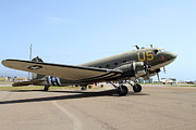 Douglas Dc-3 Framed Prints - Douglas C47 Skytrain Military Aircraft 7d15786 Framed Print by Wingsdomain Art and Photography