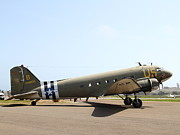 Dc-3 Prints - Douglas C47 Skytrain Military Aircraft 7d15788 Print by Wingsdomain Art and Photography