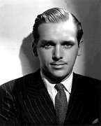 Pinstripe Suit Prints - Douglas Fairbanks, Jr., 1937 Print by Everett