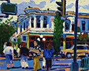 Streetscape Paintings - Douglas Street by Brian Simons
