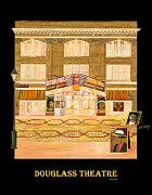 Douglass Painting Framed Prints - Douglass Theatre Framed Print by Leah Holland