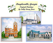 Service Station Paintings - Douglasville Georgia by Sally Storey Jones